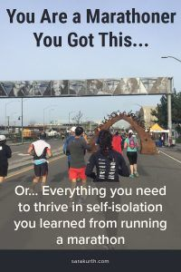 Running a marathon teaches you many things. Some of those lessons are now proving useful to those of us self-isolating during coronavirus. Marathon Tips, First Marathon, Running Humor, Running Tips, Marathon Running Motivation, Los Angeles Marathon, Training Plan, Training Equipment, Ultra Marathon Training