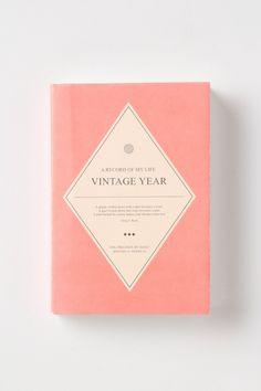 Anthropologie weekly & monthly vintage planner