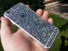 Iphone 6 Clear Case Iridescent Star Glitter Silver Iphone 6 Plus Case Silver sparkle phone case sparkle iphone 5 s 5c Iphone 4 Galaxy s6 (18.00 USD) by PaintMeMad