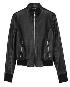 rag & bone Official Store, Gran Sport Jacket, black fl, Womens : Ready to Wear : Leather Jackets, W242421LA