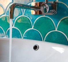 mermaid bathroom tile - Google Search