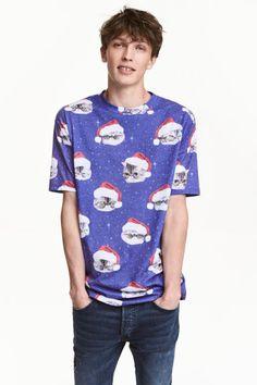 Tričko svianočným motívom | H&M
