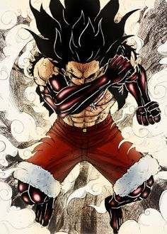 gear fourth luffy One Piece Manga, One Piece Figure, One Piece Drawing, Zoro One Piece, One Piece Ace, One Piece Fanart, One Piece Gear 4, Manga Japan, One Piece Zeichnung