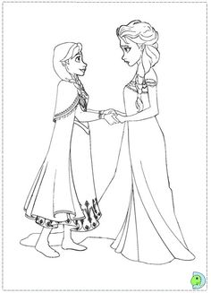 printable frozen anna and elsa Coloring pages