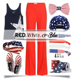 """""""Red, White and Blue Fashion"""" by pattykake ❤ liked on Polyvore featuring Keds, Altuzarra, Juvia, Forever 21, Mixit, Grandin Road, redwhiteandblue, 4thofjuly, julyfourth and redwhiteandbluefashion"""