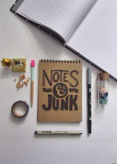 Notes & Junk // Hand Lettering by iamtiff creative http://www.iamtiff.com