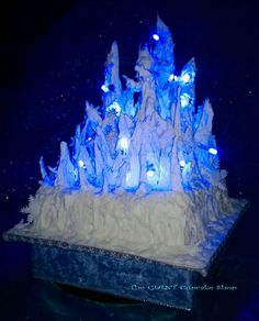 Ice queen fruit cake with fairy lights Cake by TheGiantCupcakeShop