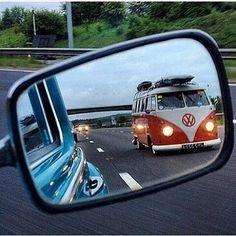 vw bus... mirror... XBrosApparel Vintage Motor T-shirts, VW Beetle & Bug T-shirts, Great price