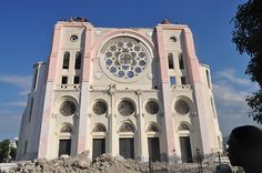 Our Lady of the Assumption, Port-au-Prince.  October 2010.  Some 60 people died in the cathedral during the January 2010 earthquake.   Nearly two years later, despite the ruins, the church remains majestic and symbolic of an enduring strength and desire to remain upright at all costs.