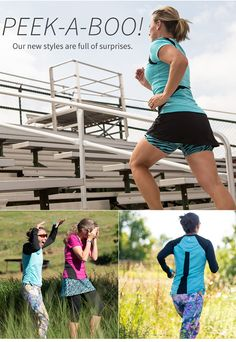 @skirtsports fall line continues to impress with the new Peek-A-Boo styles available in skirt, tee and long-sleeve! Flirty and fun in awesome form-fitting colors! #REALwomenmove #converttoskirt #skirtsports #ambassador