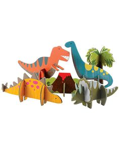 Petit Collage Pop-Out - Dinosaurs