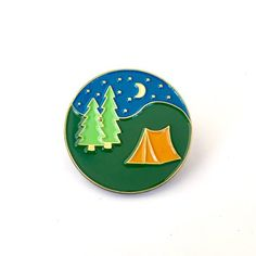 'Let's Sleep Under The Stars' Pin