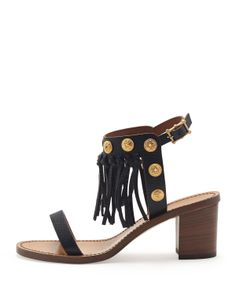 TRIBAL BEATS - Fringed Valentino sandals, 212 872 8947