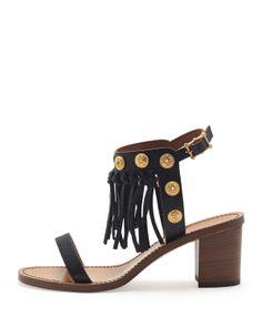 TRIBAL BEATS - Fringed Valentino sandals, 212 872 8947
