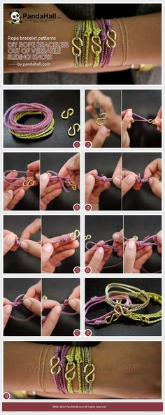 Jewelry Making Idea—How to DIY Rope Bracelet out...