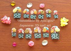 Kawaii miniature food nail art