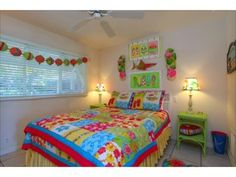 Love the colors in this vacation house on Anna Maria Island.