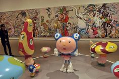 #TakashiMurakami  #TheBroadMuseum #LosAngeles The Broad Museum, Takashi Murakami, Fountain, Table Lamp, Home Decor, Table Lamps, Decoration Home, Room Decor, Water Fountains