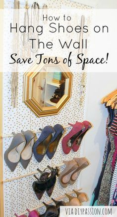 Hanging Closet Rod Extender. How To Hang Shoes On The Wall U0026 Save Tons Of  Space!
