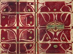 design-is-fine: C. Lion-Cachet, book binding, using indonesian batik technique. Turn of the century. Book Cover Art, Book Art, Book Covers, Amsterdam School, Going Dutch, Art Nouveau Tiles, Academic Art, Galerie D'art, Lion