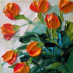 painting acrylic flowers | Acrylic Painting Techniques Flowers Jan ironside, impasto painter