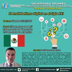 """Teresa Clotilde Ojeda Sánchez: Webinar Internacional: """"El analfabetismo digital e..."""