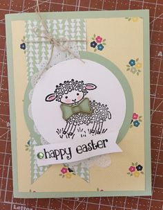Stamping Up Easter Lamb for March Club