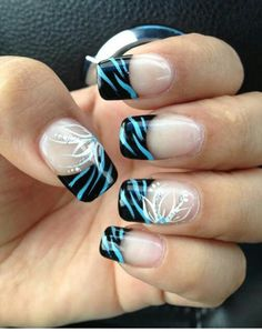 Nail art is a artistic way to decorate nails. Nail arts have been done on finger nails and toe nails. Now girls with different nail polish and other things create their nail art and there is no nee… Zebra Nail Art, Zebra Print Nails, New Nail Art, Fancy Nails, Diy Nails, Cute Nails, Pretty Nails, Fabulous Nails, Gorgeous Nails