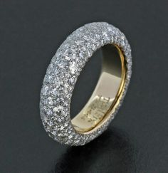 Diamond, Platinum and 18K Rose Gold Band by James de Givenchy #Taffin #JamesdeGivenchy #Ring