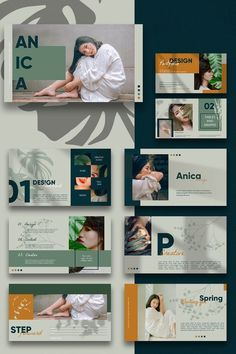 ANICA - PowerPoint Template has a professional, stylish and light design, where each slide is created with love and attention to detail. Its multipurpose Page Layout Design, Web Design, Slide Design, Best Presentation Templates, Presentation Board Design, Powerpoint Design Templates, Creative Powerpoint Presentations, Ppt Template, Layout Template