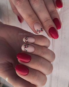 [New] The 10 Best Makeup Today (with Pictures) Cute Acrylic Nails, Acrylic Nail Designs, Cute Nails, French Nail Designs, Simple Nail Designs, Oval Nails, Red Nails, Special Nails, Nails 2017