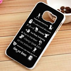 Disney All Lessons Quotes Samsung Galaxy S3, S4, S5, S6, S6 Edge, S7 Case - gogolfnw