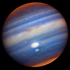 Jupiter in Infrared Photograph by Travis A. Recto via I Love Space