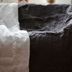 Dom Artystyczny's product - Linen baby comforter vintage - Equilart - art and craft internet gallery