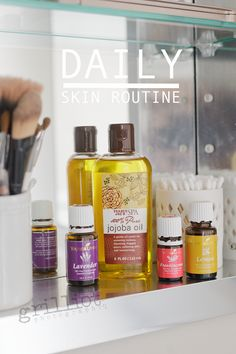 Essential Oil Daily Face Routine.  This stuff is great is the perfect balance for your face to reduce scaring and fine lines, clear acne and reduce sun spots.  Young Living Essential Oils are my favorite!!