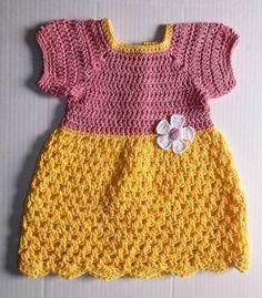 Baby Girl Crochet Dress by KDsKidsCrochet on Etsy, $30.00