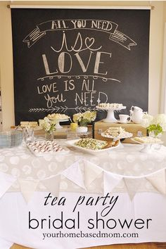tea party bridal shower// love the theme... I could see myself having a love song themed shower.