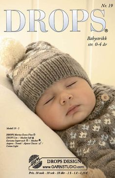 """DROPS Baby - Set comprises: Knitted DROPS jacket with raglan sleeves and turtle neck, hat with pattern and socks with pattern in """"Merino Extra Fine"""". - Free pattern by DROPS Design Baby Knitting Patterns, Free Baby Patterns, Baby Sweater Knitting Pattern, Knitting For Kids, Knitting Designs, Crochet Designs, Free Knitting, Crochet Patterns, Free Pattern"""
