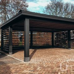 Carport Plans, Carport Garage, Pergola Carport, Car Porch Design, Fence Design, Pool House Designs, Backyard Patio Designs, Metal Building Homes, Building A House