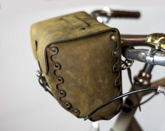 Leather Bicycle Bag, Handlebar Bag, Seat Bag, Saddle Bag, Hand Stitched, Full Grain