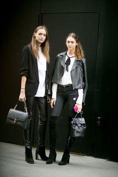 Zhenya Katava and Stasha Yatchuk - Milan Fashion Week Spring 2016.