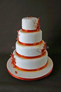Wedding Cake - Autumn Leaves, via Flickr.