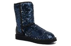 UGG Boots 1002978 Classic Short Sparkles Midnight AAA