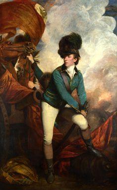 Sir Banastre Tarleton, 1st Baronet, by Sir Joshua Reynolds, 1782.. Gods and Foolish Grandeur