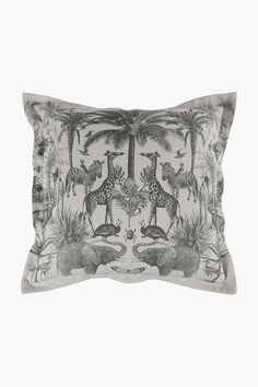 Printed Wild Life Scatter Cushion, 55x55cm - Shop New In - Home Décor Home Decor Shops, Scatter Cushions, Wild Life, Decor Styles, Bed Pillows, Take That, Printed, Design, Pillows