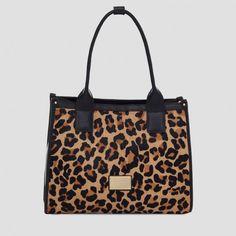Bolsa animal print com divisórias   Smartbag Bolsas