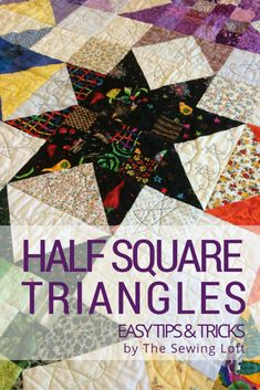 Learn different techniques to make half square triangles fast and accurately.