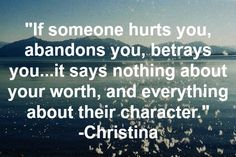 """I agree. When someone lies and/or cheats, you are not the first they did this to or the last. It's like the saying """"When someone shows you who they are, Believe them""""."""