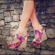 Hello Spring New Jessica Simpson Floral Wedges Brand new, never been worn Jessica Simpson Floral Wedges! Jessica Simpson Shoes Wedges