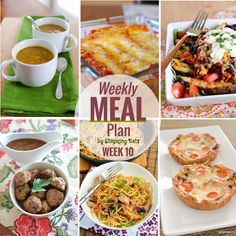 Slimming Eats Weekly Meal Plan - Week 10 - Slimming World                                                                                                                                                                                 More
